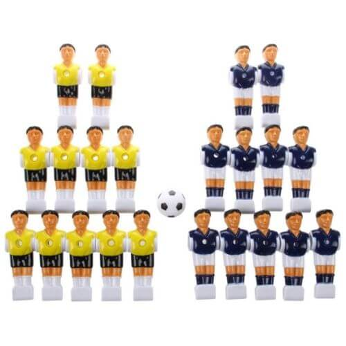 Alomejor Foosball Man Table Guys Man Soccer Player Replacement Part for Table Football Player Table Games with Tournament Style 2Pcs Set