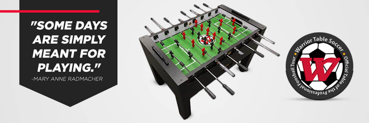 Warrior Foosball Banner